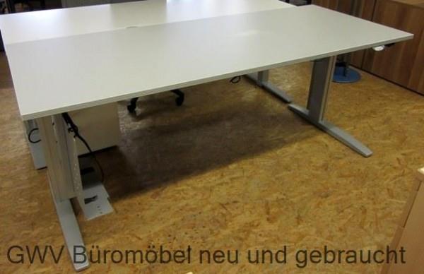 CEKA - Steh- Sitz- Schreibtisch 200 cm, sahara