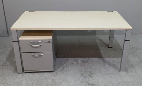 Zweitlg. Set - Schreibtisch + Container, Ahorn