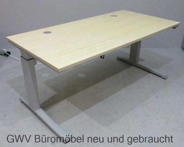 Steelcase - Steh- Sitz- Schreibtisch 160 cm, ahorn