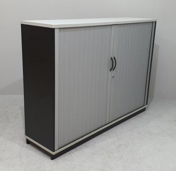 CEKA - Querrolloschrank 3 OH, B 160 cm schwarz