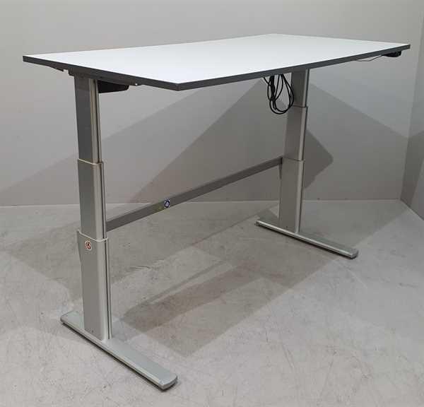 Divers - Steh-Sitz-Schreibtisch 180 cm, grau