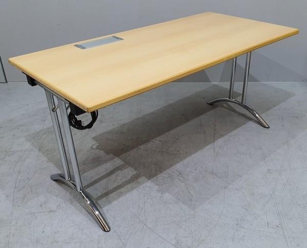 Schulungstisch B 150 cm, buche m. Elektrifizierung