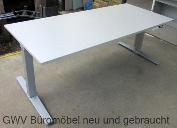 K & N - Steh- Sitz- Schreibtisch 180 cm, grau
