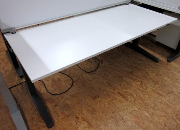 Steelcase - Steh- Sitz- Schreibtisch 180 cm, grau