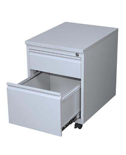 Stahl- Rollcontainer T 60 cm, HR lichtgrau