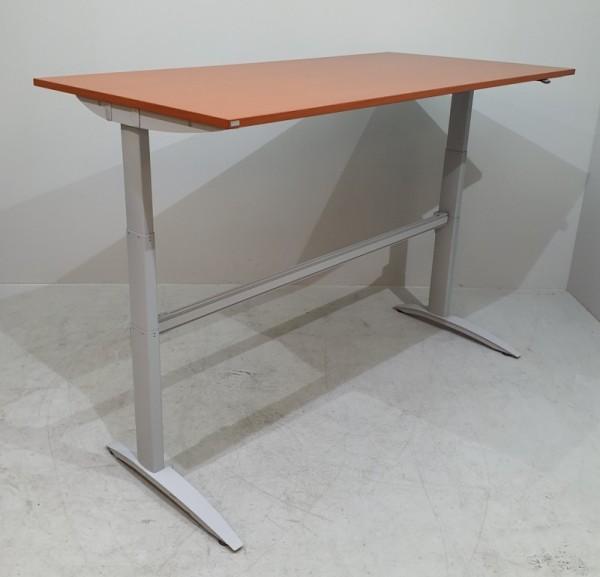 Klain - Steh-Sitz-Schreibtisch, B 200 cm, kirsche