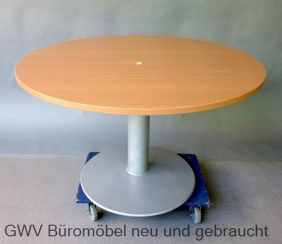 besprechungstisch birne buche 120 cm rund durchmesser tellerfu gebraucht gwv b rom bel. Black Bedroom Furniture Sets. Home Design Ideas