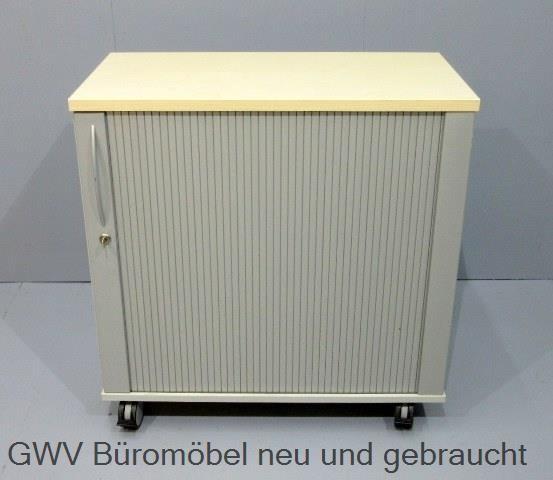K & N - Querrolloschrank 2 OH, B 80 cm ahorn