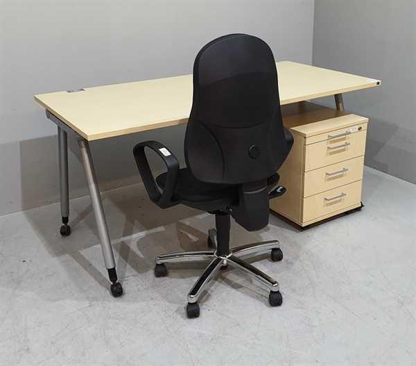 K & N - SET Schreibtisch + Rollcontainer,