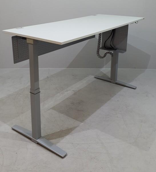 K & N - Steh-Sitz-Schreibtisch 160 cm, grau Talo.S