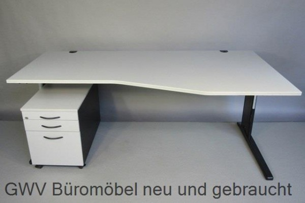 RTR - FF- Schreibtisch (R) + Rollcontainer
