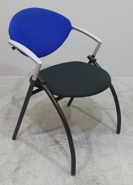 Zeitler - Besucherstuhl blau / schwarz