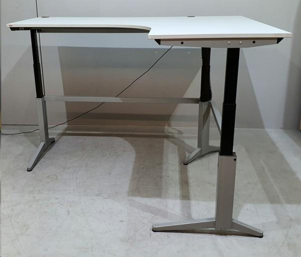 Assmann - Winkel- Steh-Sitz-Schreibtisch grau