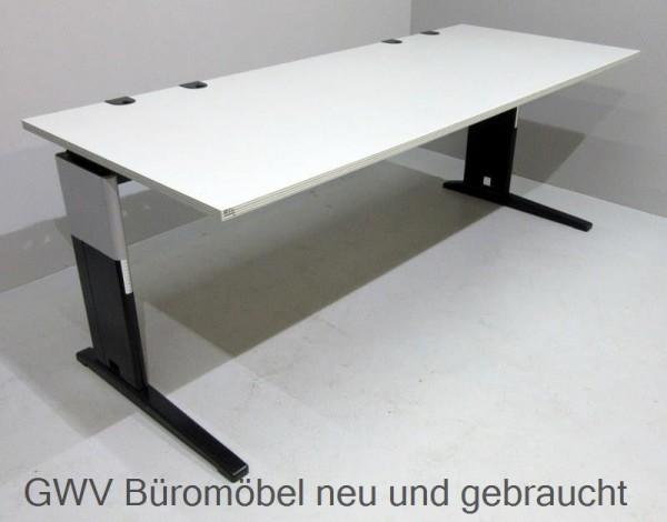 schreibtisch tisch buerotisch sahara grau kabelauslass. Black Bedroom Furniture Sets. Home Design Ideas