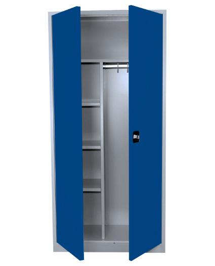 Stahl- Akten- / Kleider- Schrank, enzianblau