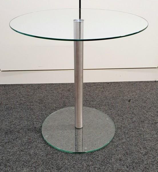 Glastisch - Beistelltisch D 50 cm