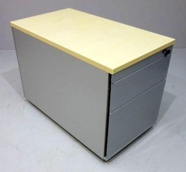 K & N - Rollcontainer T 80 cm, ahorn/silber HR