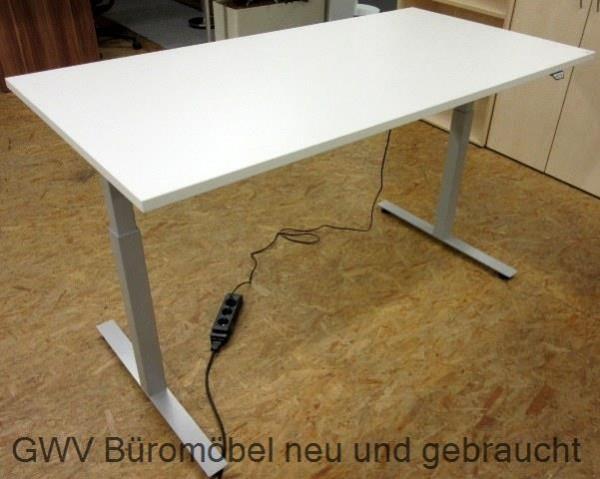 Steh-Sitz-Schreibtisch 200 cm