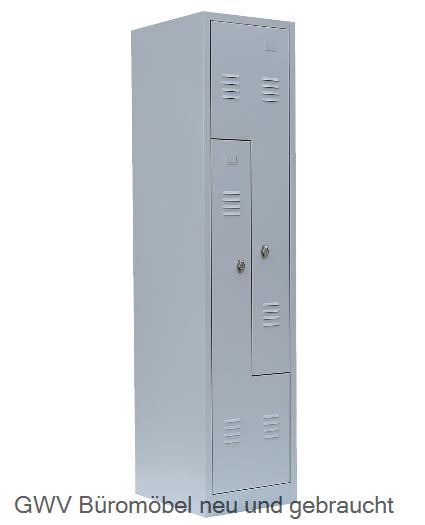 Stahl- Fächer- Schrank 2- Fächer, lichtgrau