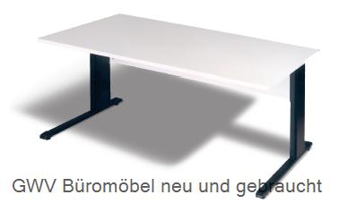 Schreibtisch B 160 cm, grau, hv