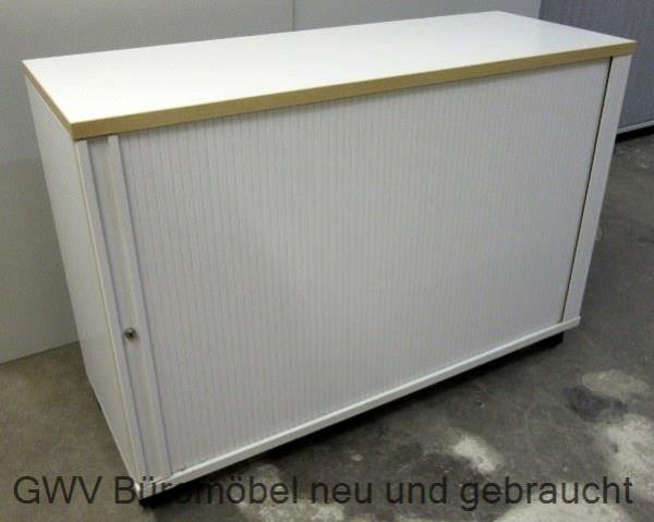 rolloschrank querrollo sideboard 120 breit 2 oh breite 80 cm grau ...