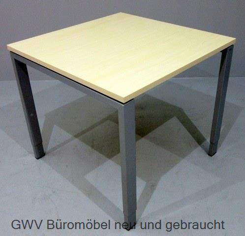 Bene - Besprechungstisch 80 x 80 cm ahorn