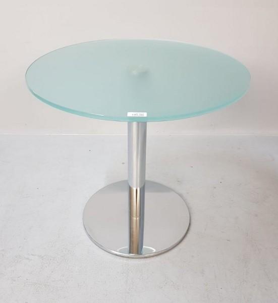Bistro - Glastisch - Stehtisch D 80 cm