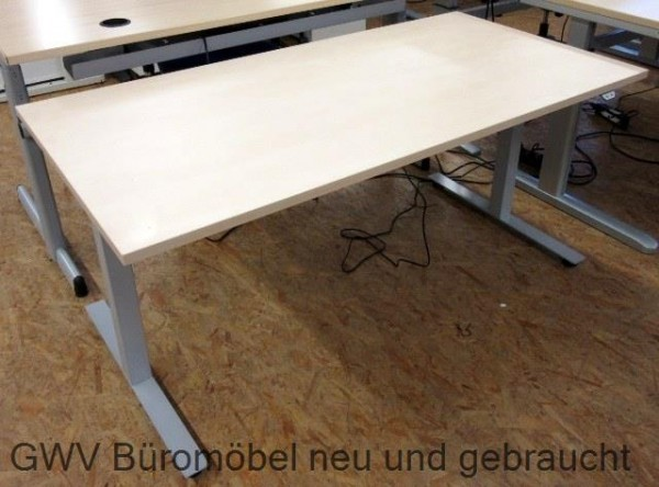 Steh-Sitz-Schreibtisch 160 cm, weiss