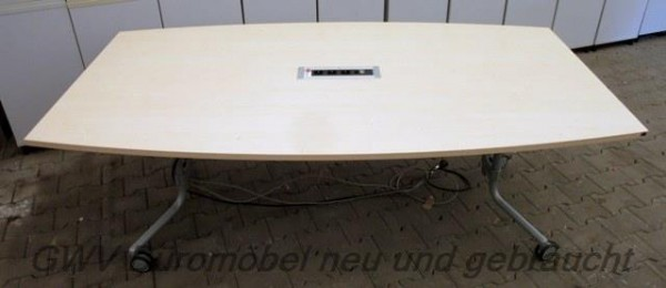 K & N - Besprechungstisch Bootsform 200 cm