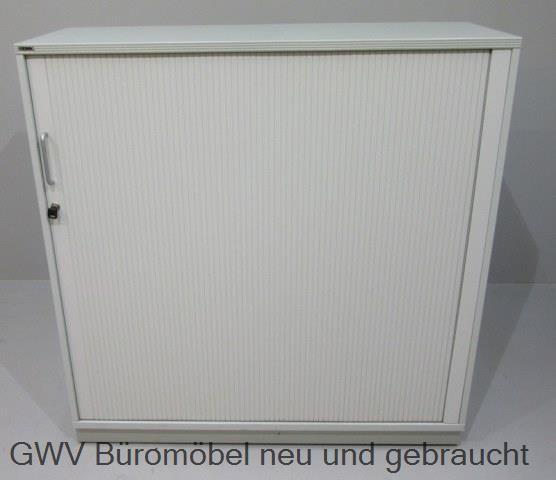 CEKA - Querrolloschrank 3 OH, B 120 cm, lichtgrau