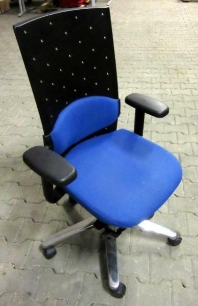 K & N - Bürodrehstuhl blau gemustert
