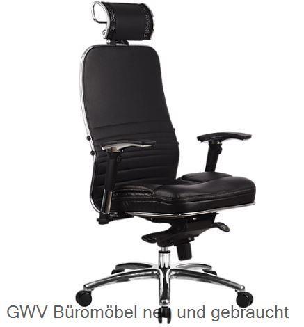 Leder-Drehstuhl - Sam-KL m. Kopfstütze