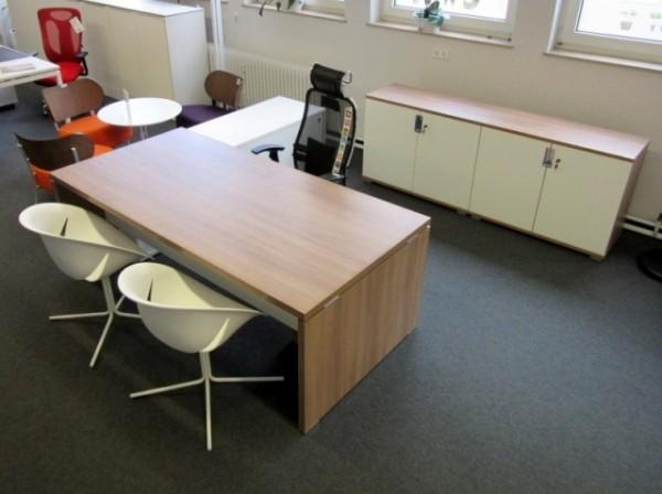 TK -Chefzimmer 4-teilig, Tisch, Container, Sideb.