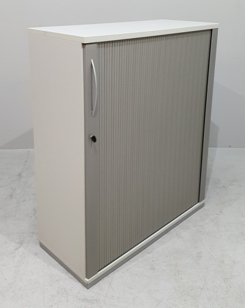K & N - Querrolloschrank 3 OH, B 100 cm lichtgrau