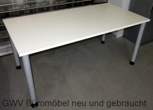 Assmann - Schreibtisch 160 cm HV, weiß/ silber