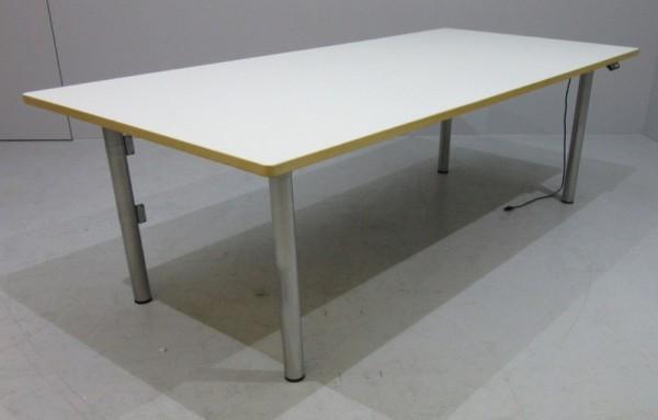 VS - Steh- Sitz- Schreibtisch 180 cm, weiß