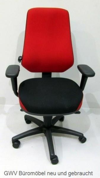Tergon - Bürodrehstuhl schwarz rot