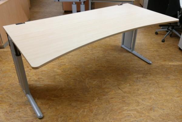 Werndl - Schreibtisch 200 cm, ahorn Ergo