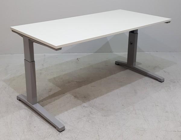 Steelcase - Schreibtisch 160 cm, lichtgrau