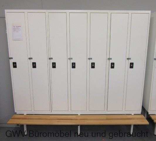 Kleiderspind 2x2-türig / 1x3-türig + Sitzbank