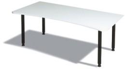 Ergo- Schreibtisch B 180 cm, HV, grau