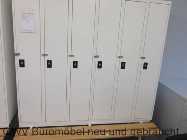 Kleiderspind 2 x 3-türig + Sitzbank, B 180 cm