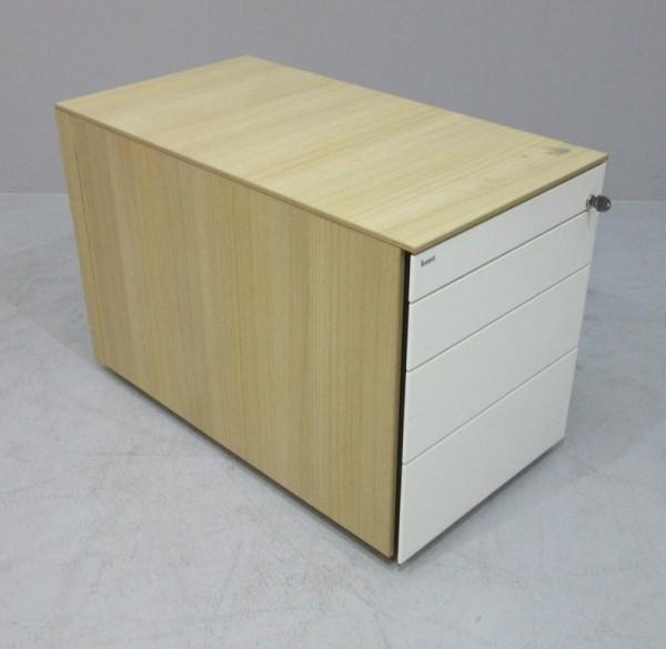 Bene - Rollcontainer T 80 cm, Eiche/weiß