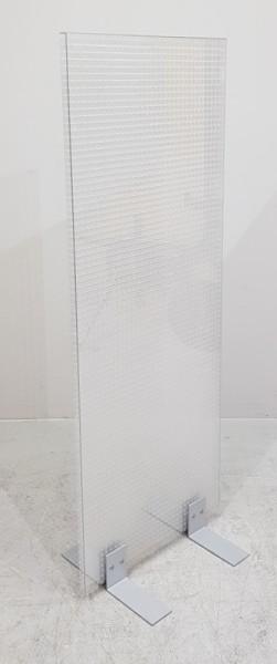 Trennwand 60 x 160 cm, Plexiglas, Wabenoptik