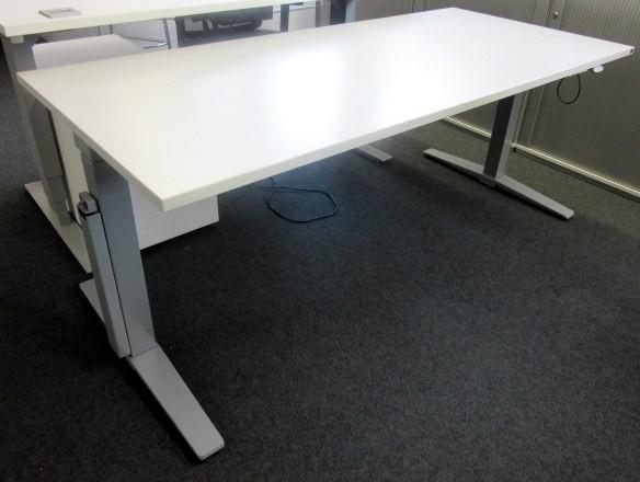 K & N - Steh- Sitz- Schreibtisch 160 cm, weiß