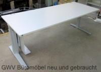 K & N - Schreibtisch 200 cm, grau