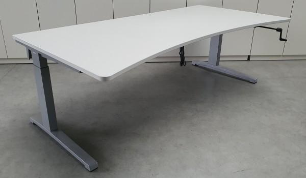Steelcase - Schreibtisch 200 cm HV, lichtgrau