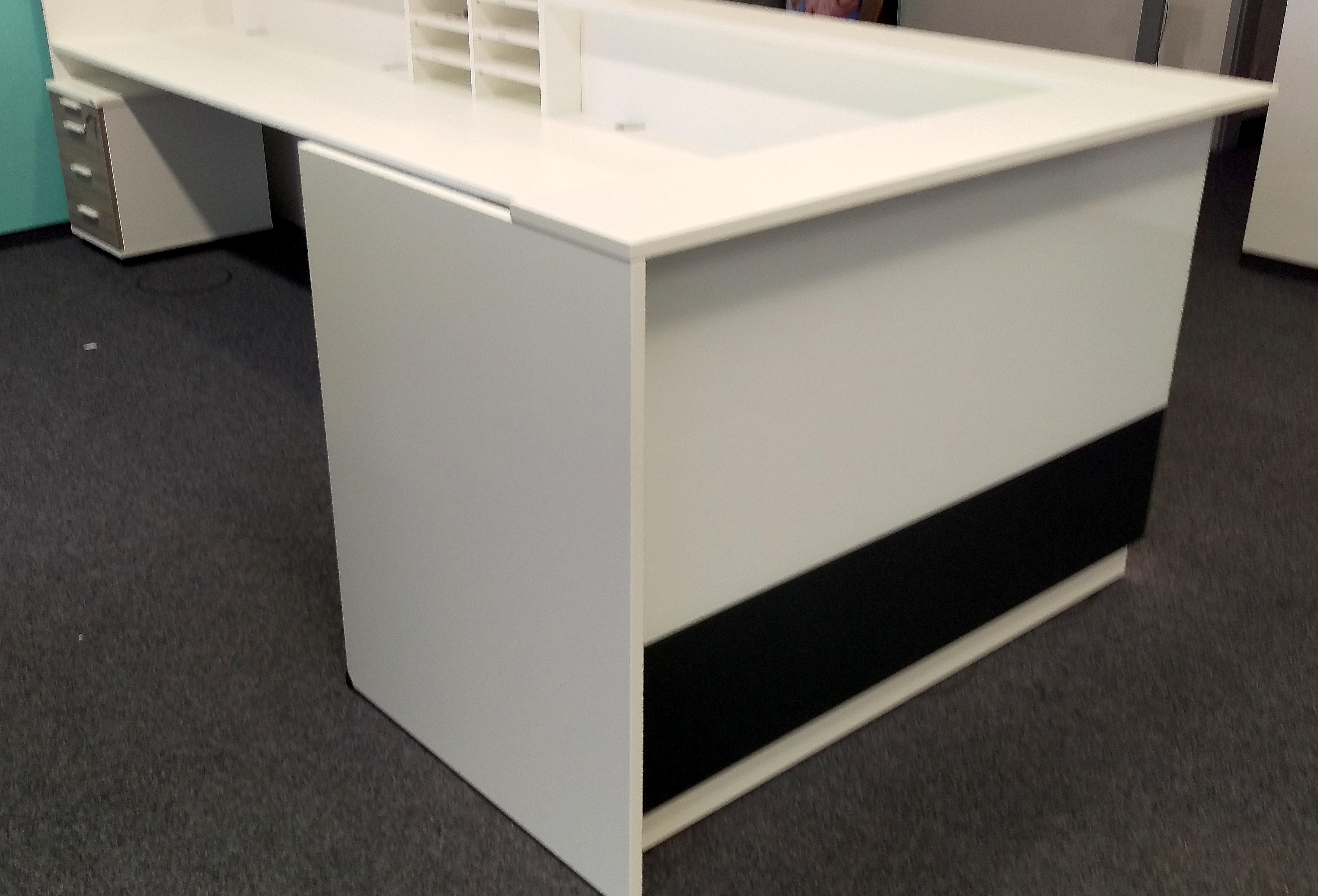 Febrü Empfangstheke 410 x 160 cm + Rollcontainer   GWV Büromöbel ...