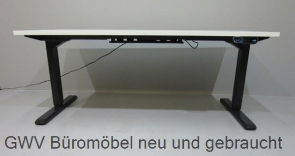 Steh- Sitz- Tisch B 160 cm, Gestell schw.