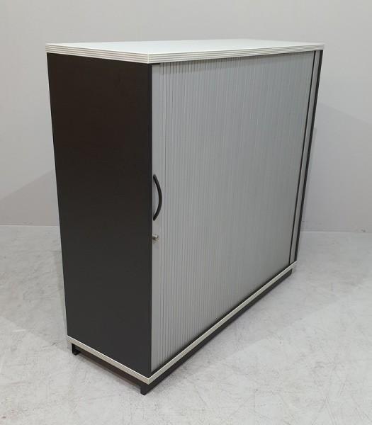 CEKA - Querrolloschrank 3 OH, B 120 cm schwarz
